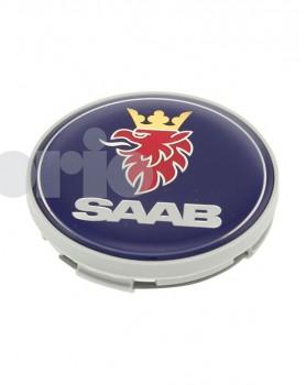 Saab colour Griffin Hub Cap - grey edge