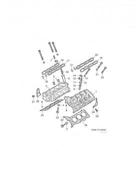 Spark Plug for 9-3 B284 (2.8V6) 2006-2007