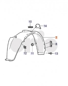Front Wheel Arch Liner Right Hand