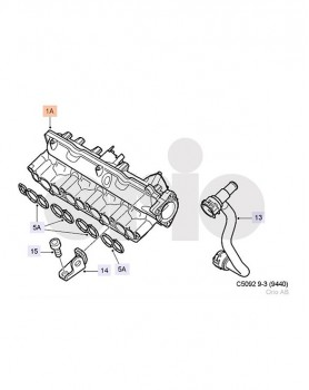 Inlet Manifold for 9-3 Z19DTR engine