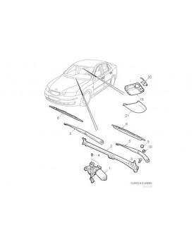 Saab 9-3 Conv Wiper Arm (04-07)