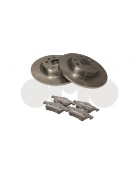 Rear Brake kit (discs & pads) 9-3 278mm discs